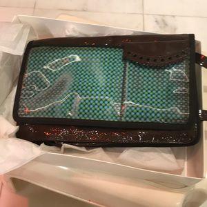 Miu miu oil cloth shoulder bag